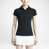 Nike Advantage Printed Women's Tennis Polo Shirt Size XS (Black)