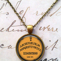 Ouija Board Necklace, Gothic, Poe, Steampunk T642
