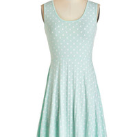 Kling Pastel Mid-length Sleeveless A-line Sweet Spots Dress