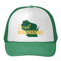 Drink Wisconsibly Trucker Hat from Zazzle.com