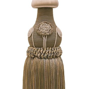 "Decorative Beige Multi Tone Curtain & Drapery Tassel Tieback /12"" tassel, 32"" Spread (embrace), 7/16"" Cord, Baroque Collection Style# TBBL-1 Color: Sandstone 7245"