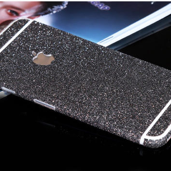 Grey Black Sparkle Glitter Decal Wrap Skin Set iPhone 6s 6 / iPhone 6s 6 Plus