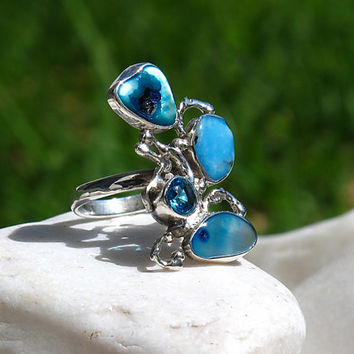 """Exotic Sterling Silver Ring 