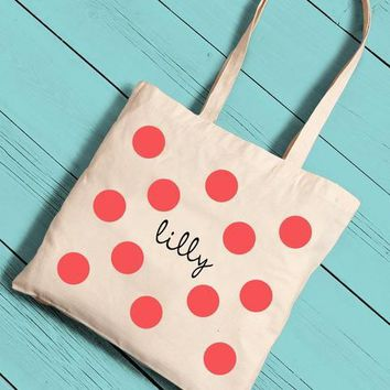 Girls Canvas Tote Free Persoanlization