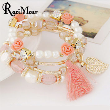 Romantic Zinc Alloy Bracelets For Women
