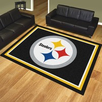 Pittsburgh Steelers 8x10 Rug