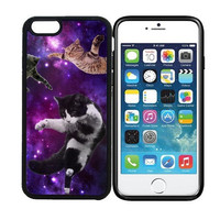 iPhone 6 (4.7 inch display) Designer Black Case - Flying Cats Space Hipster