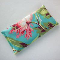 Aromatherapy Eye Pillow - Flax Seed & Lavender - pink love bliss - yoga