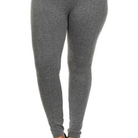 French Terry Plus Size Seamless Leggings