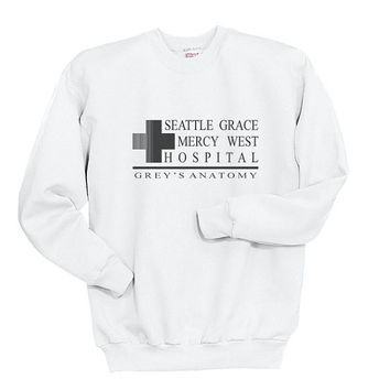 Seattle Grace Mercy west Hospital Unisex Crewneck Sweatshirt S to 3XL