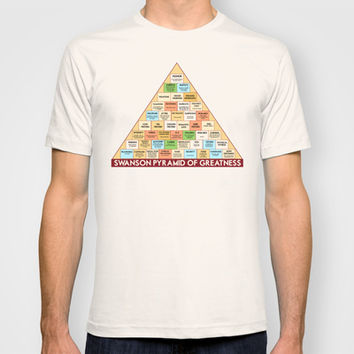 ron swanson's pyramid of greatness T-shirt by Studiomarshallarts