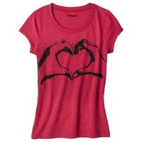 Junior's Love Symbol Graphic Tee - Red
