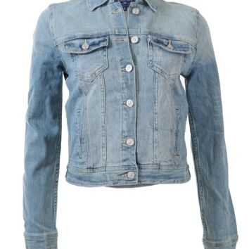 Vintage style light washed denim jacket