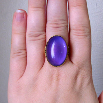 AFTER CHRISTMAS SALE Mood Ring - Large Oval in Matte Gold