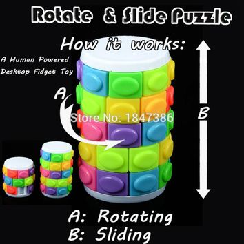 Rotate and Slide Spinner russia Fidget Babylon Tower Puzzle Cube Fidget Fiddle Sensory Toy Autism And ADHD Anti Stress Toys