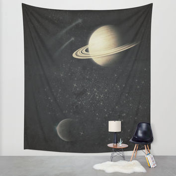 Deep Black Space Wall Tapestry by DuckyB (Brandi)