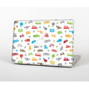 The Colorful Travel Collage Pattern Skin for the Apple MacBook Air 13""