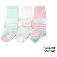 Walmart: Child of Mine by Carters Newborn Baby Girl Terry Crew Socks, 6 Pairs