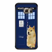 iDoge Shibe Doge on tardis doctor who For samsung galaxy s6 edge case