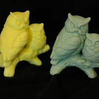 bird soap ( 2 ) - owl soap - animal soap - owl decor - wild birds soap - owl birthday party - handmade soap - Pick your Color and Scent