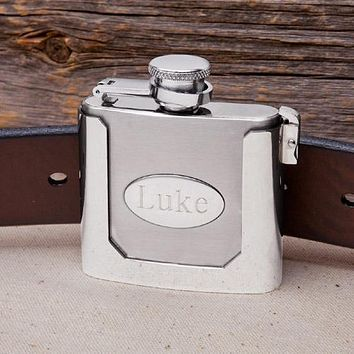 Personalized Belt Buckle Flask Free Engraving