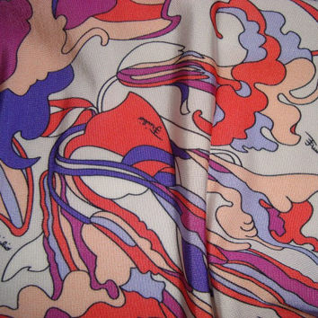 EMILIO PUCCI fabric JERSEY viscose for dress,shirt or skirt, Made in Italy