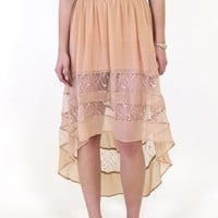 Cruise to Catalina Skirt: Nude [LS30042-S01] - $49.99 : Spotted Moth, Chic and sweet clothing and accessories for women
