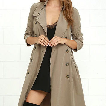 Jack by BB Dakota Wellington Taupe Trench Coat