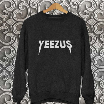 yeezus sweater Black Sweatshirt Crewneck Men or Women Unisex Size