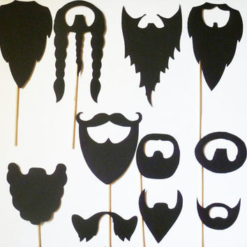 11 - Beards on a Stick photobooth PROPS wedding fu man chu mustache stache mustashe WEDDING bash photo prop