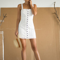 Hermosa Eyelet Snap Dress