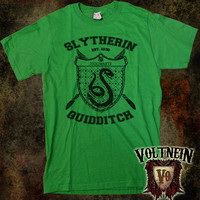 Slytherin Men's TShirt in Black or Green Print by VoltNein on Etsy