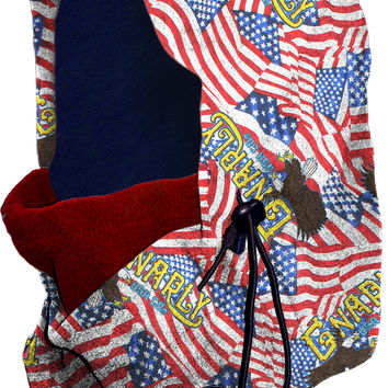 Gnarly Hood America Facemask Balaclava - Red/White/Blue