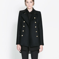 COAT WITH METALLIC BUTTON - Coats - Woman | ZARA United States
