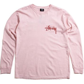 Stock Pigment Dyed Longsleeve T-Shirt Blush