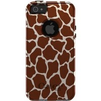 CUSTOM OtterBox Commuter Series Case for Apple iPhone 5 / 5S - Brown Tan Beige Giraffe Skin Spots