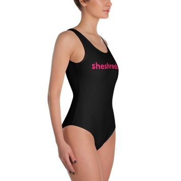 Colleen One-Piece - Black/Pink