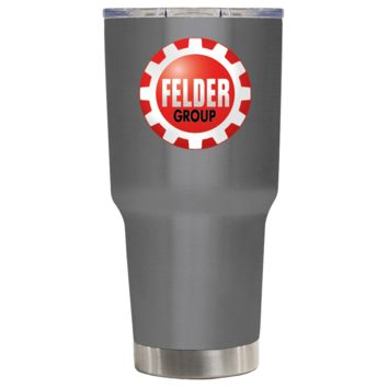 TREK Felder Group on Oil Slick Black 30 oz Tumbler