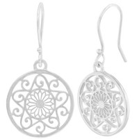 Southern Gates Sterling Silver Cathedral Scroll Earring