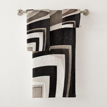 Pinch Me Black Bath Towel Set