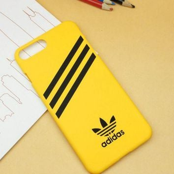 LMFONPR Yellow Adidas Print  Sports Cover Case For Iphone 7 7 Plus & 6 6s Plus & 5s se