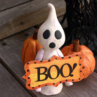 Halloween Ghost Place Card Holder No 39 by BloomAndBarnacle