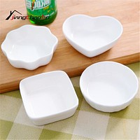 Pure Color Seasoning Dish Small Ceramic Saucer Dish Flavored Plate Spice Dish Kitchen Tools Vinegar Snack Dishes