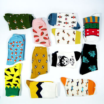 Fun cotton socks - 21 styles