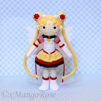 Eternal Sailor Moon Plush Amigurumi Doll (Crochet Pattern Only, Instant Digital Download), Senshi, Usagi Tsukino