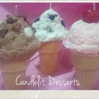 Scented Ice Cream Cone Candle by CandlelitDesserts on Zibbet