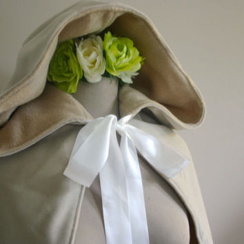 Velveteen Brides Cape in Tea Stain READY TO SHIP