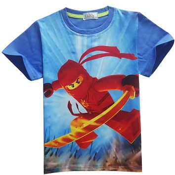 Baby Boys T-shirt Children's Clothing Legoe Ninja Ninjagoed Cartoon T-shirt Tops Superman Top Tees Girl Clothes Child Costume