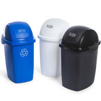 plastic waste bin with lid 7-liter | Five Below