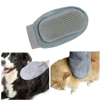 Glove Cleaning  Brush For Pet Dog Cat Massage Bath Mitt Brush Comb Grooming  Pet Health Supplies 16*24cm
